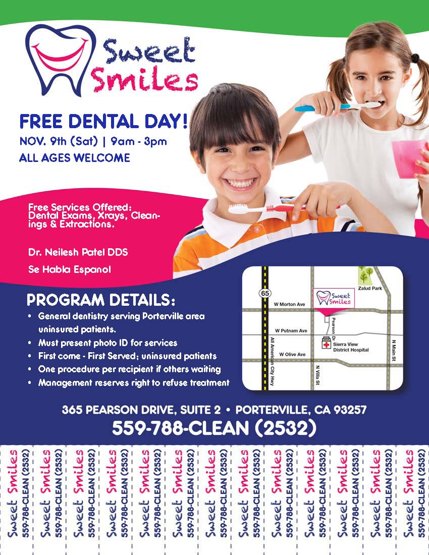 Free Dentist in Porterville